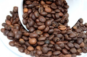 coffee beans and caffeine
