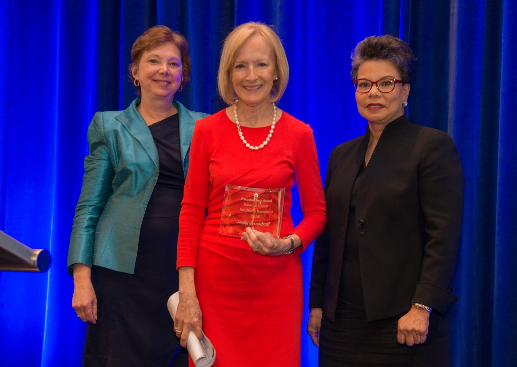 Dr. Diana Zuckerman, Judy Woodruff, and Maureen Bunyan