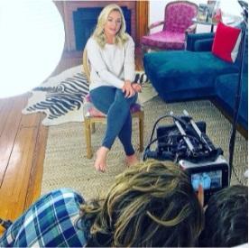 Elisabeth Rohm filming